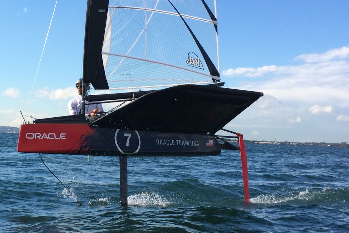 Oracle Team USA Flying over Lake Macquarie