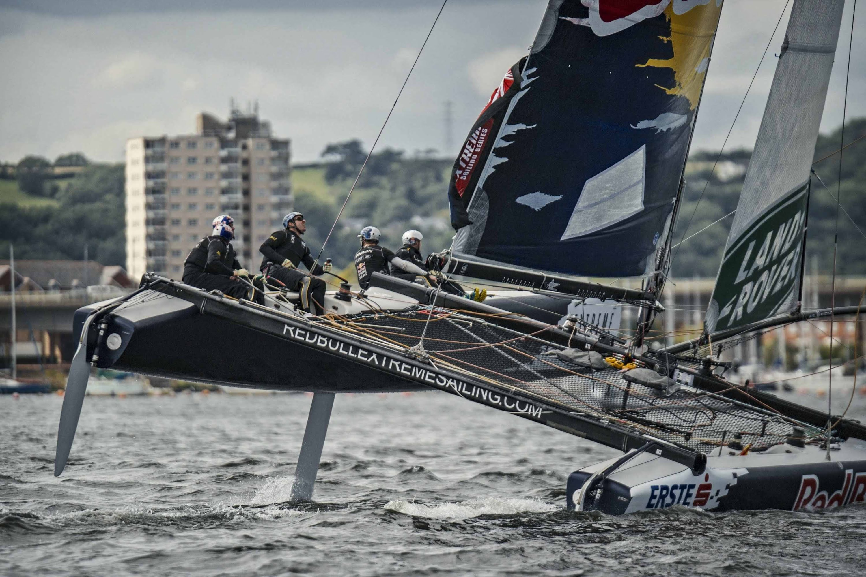 High Speed Sailing in Cardiff Bay by Red Bull