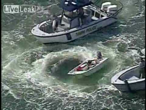 Police Capture 14-ft Boat Circling out of Control
