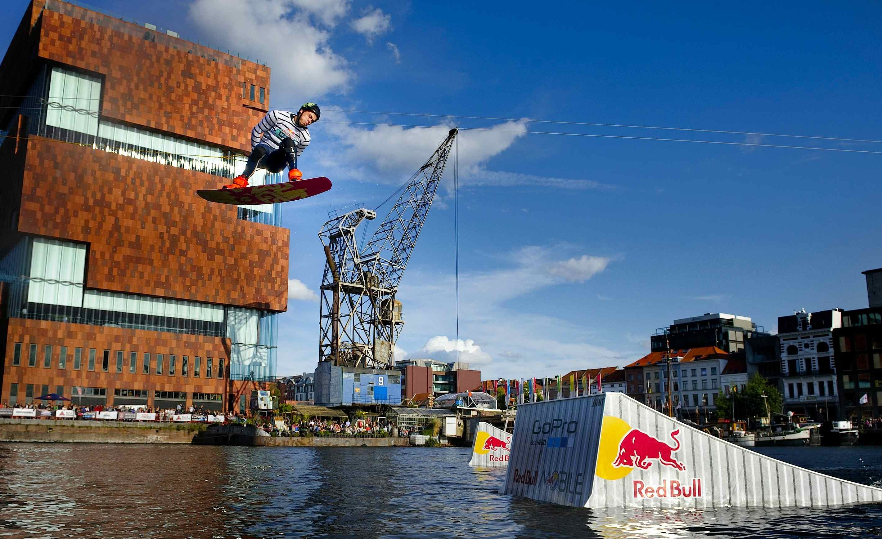 Urban Ocean Wakeboarding in Belgium by Red Bull