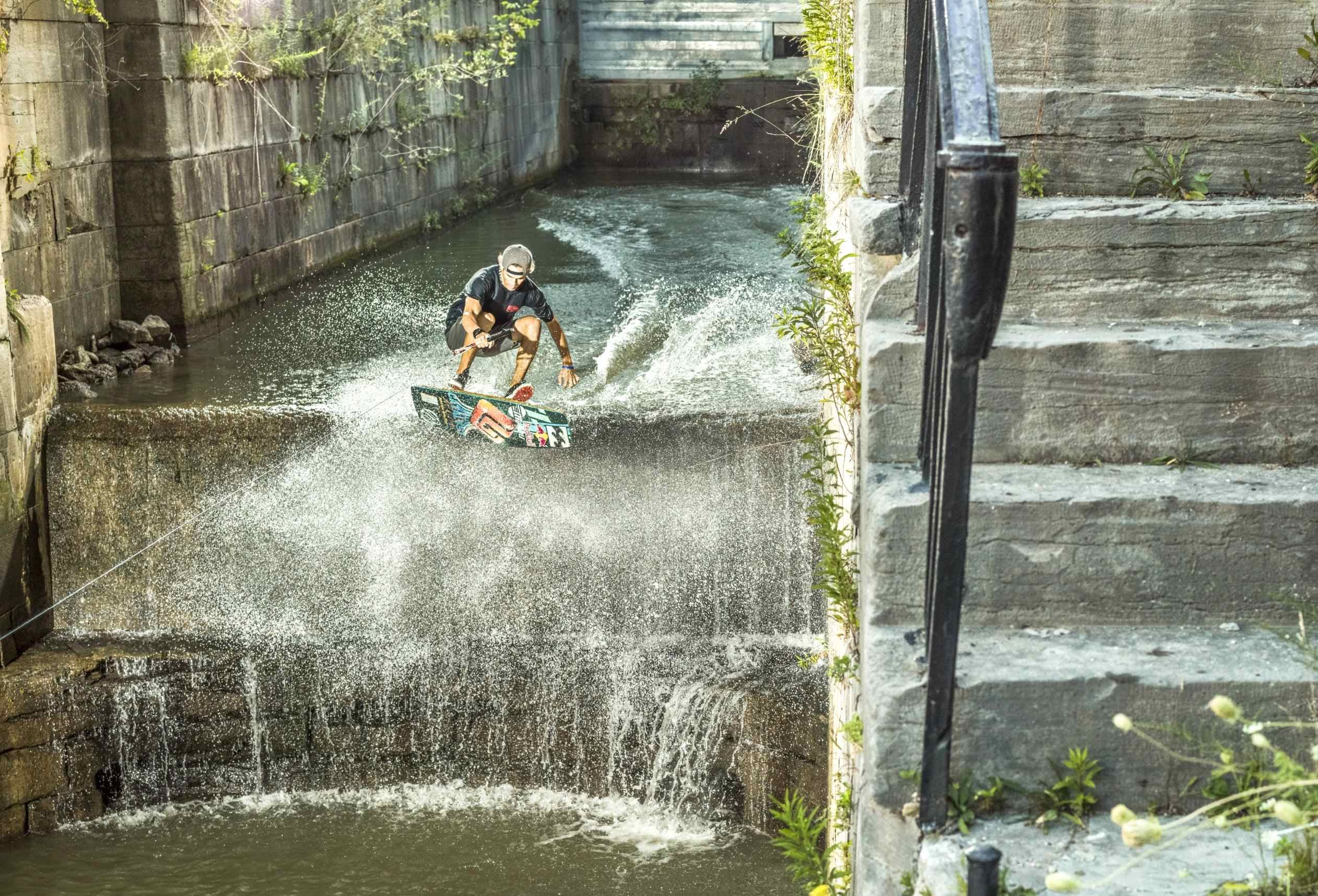 Wakeskating the Erie Canal – Red Bull Pop The Lock 2014