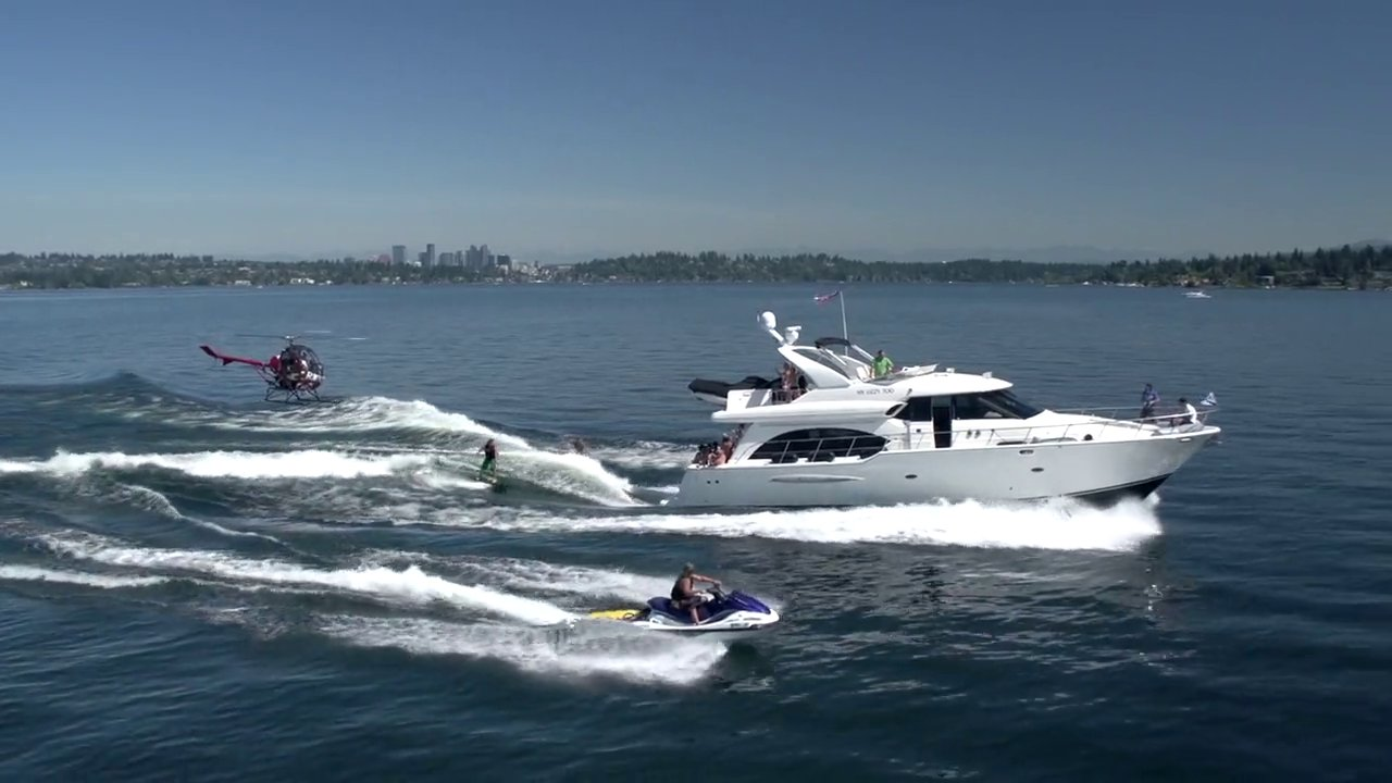 Yacht Wake Surfing by Ronix