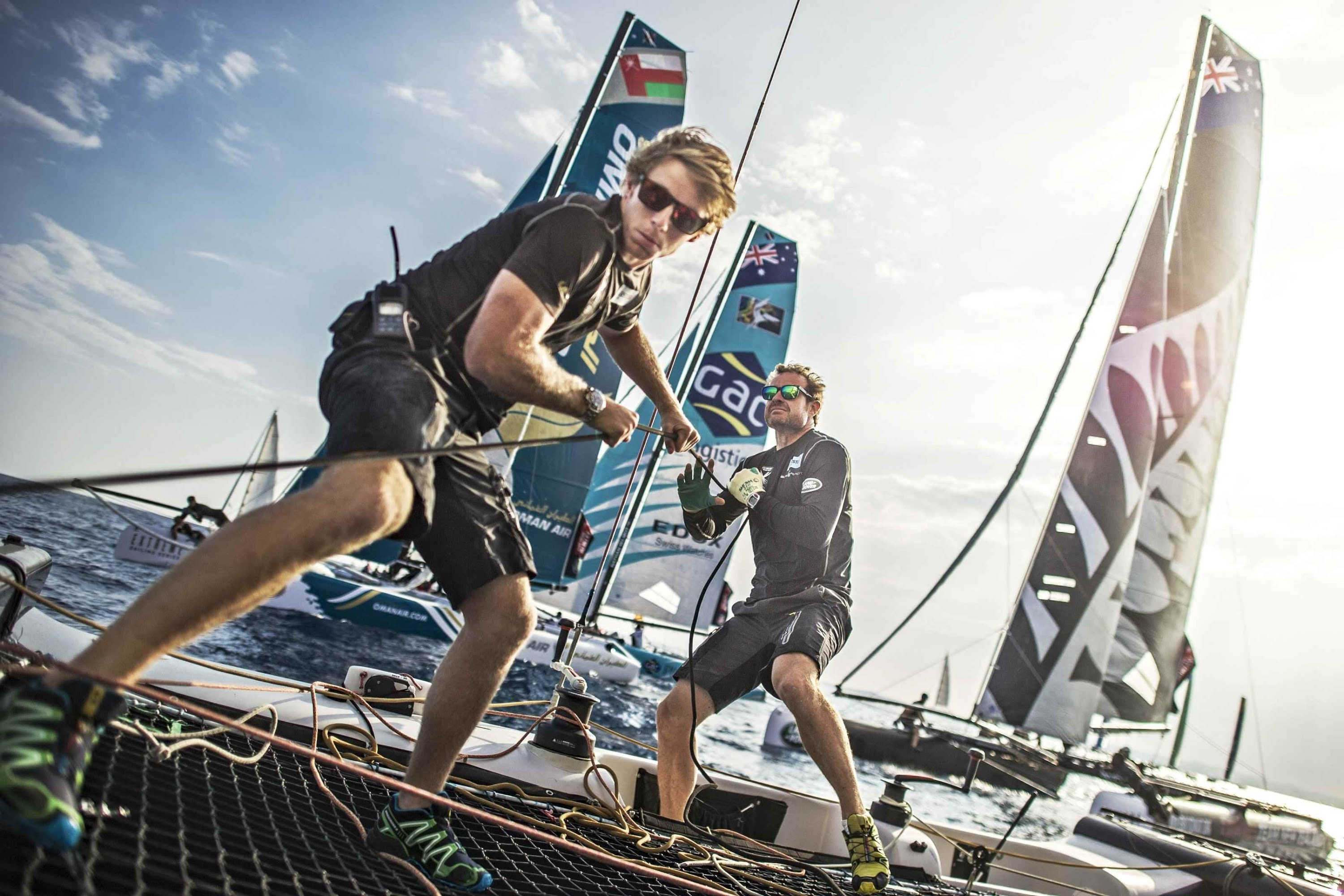 Extreme Sailing Competition on the Nice Coast by Red Bull