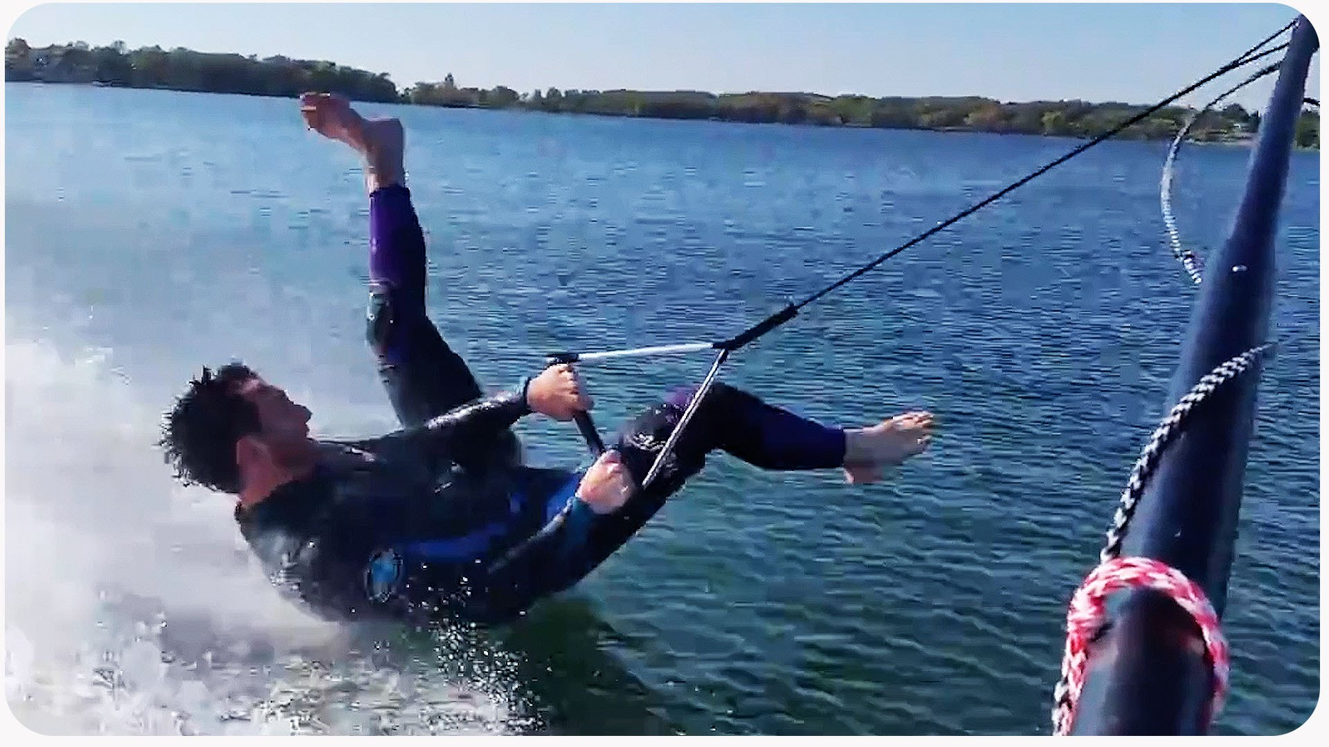 Barefoot Skiing Fail – Graceful Fall