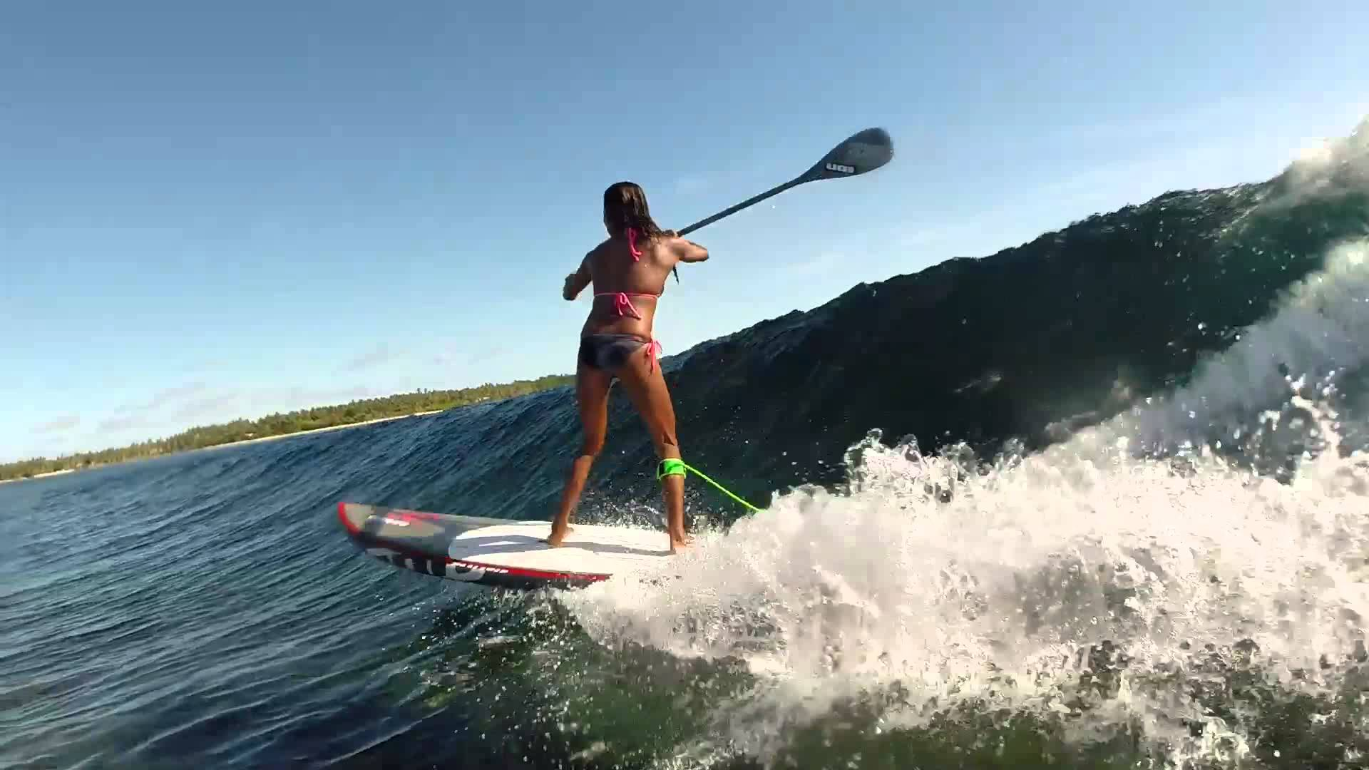 Manette Alcala SUPing some fun ones in the Philippines
