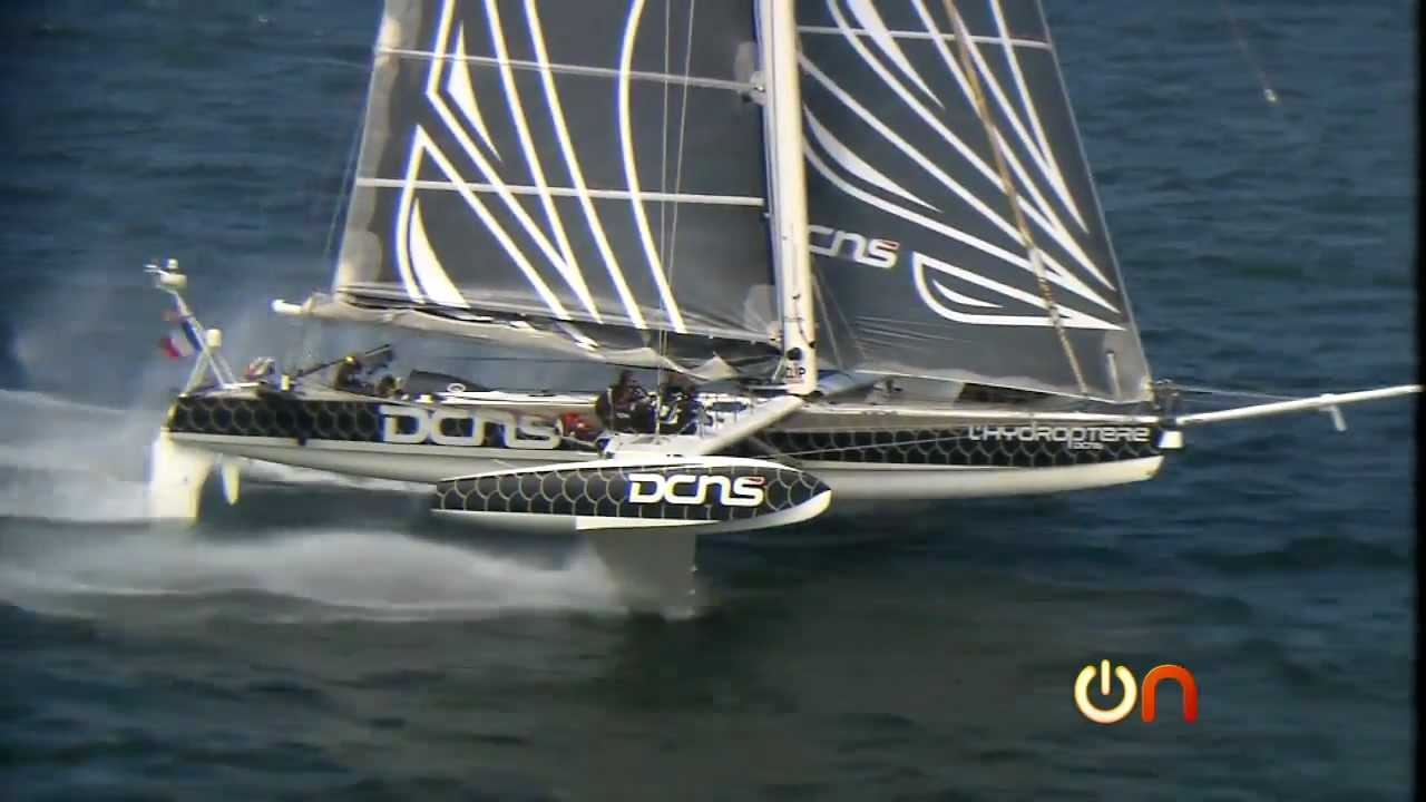 Flying on the sea with fastest sailboat